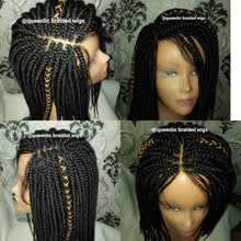 Load image into Gallery viewer, Senegalese box braids closure Wig