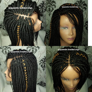 Senegalese box braids closure Wig
