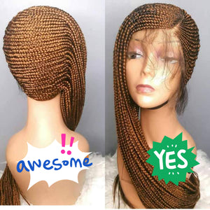 N Lemonade braids Cornrow Wig