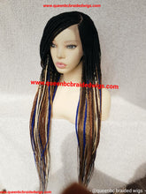 Load image into Gallery viewer, Colorful braided cornrow wig