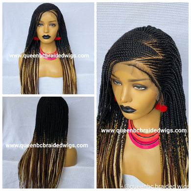 Ready to ship Zizag cornrow wig