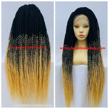 Load image into Gallery viewer, Full lace Medium twist braids wig