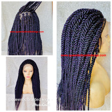Load image into Gallery viewer, Medium twists braids full lace wig