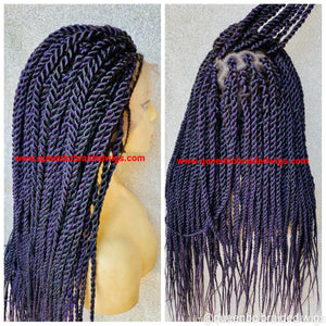 Medium twists braids full lace wig