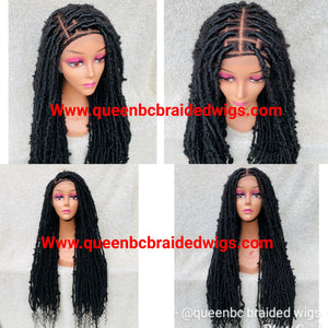 Distressed faux locs style 2 full lace Wig