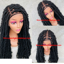 Load image into Gallery viewer, Distressed faux locs style 2 full lace Wig