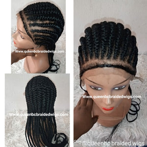 Ready to ship straight back braids wig