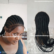 Load image into Gallery viewer, Ready to ship straight back braids wig