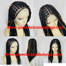 Load image into Gallery viewer, 13x6 lace front knotless braids ready to ship wig