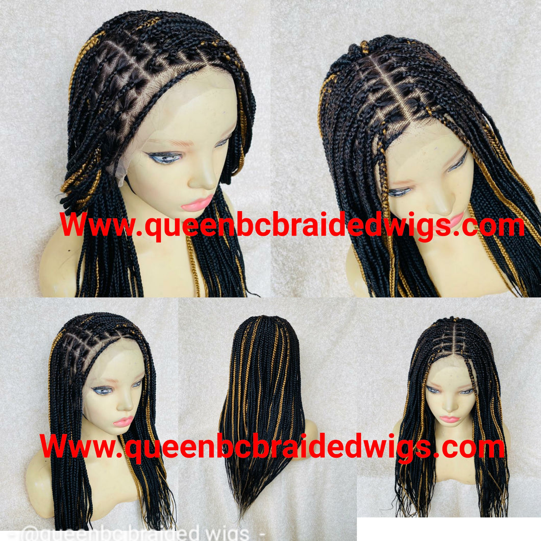 13x6 lace frontal knotless braids wig