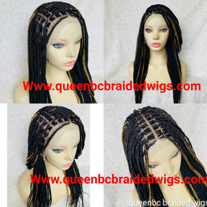 13x6 lace front knotless braids ready to ship wig