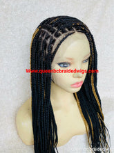 Load image into Gallery viewer, 13x6 lace frontal knotless braids wig
