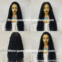 Load image into Gallery viewer, Distressed faux locs full lace Wig