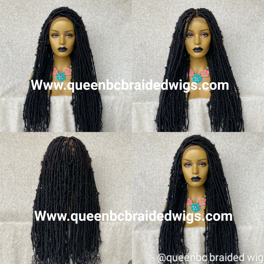 Distressed faux locs full lace Wig