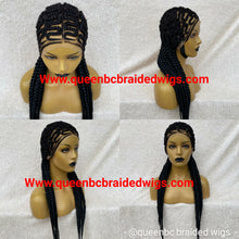 Load image into Gallery viewer, Full lace zizag Cornrow Wig