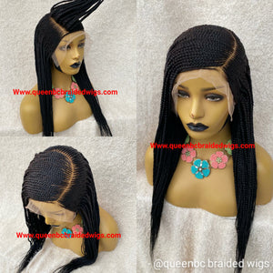 13x6 lace frontal Cornrow Wig