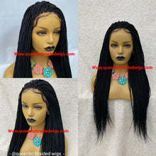 Load image into Gallery viewer, Full lace micro box braids wig