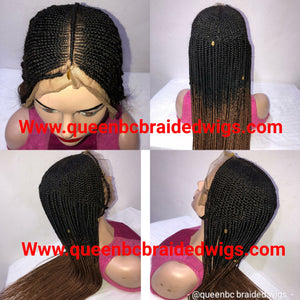 Ready to ship Fulani braids Cornrow  Wig