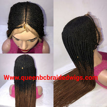 Load image into Gallery viewer, Ready to ship Fulani braids Cornrow  Wig