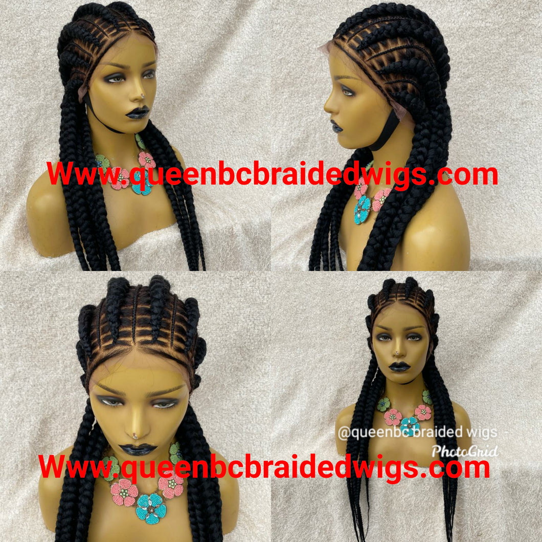 Full lace stitch braids