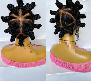 Full lace Bantu knots wig
