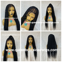 Load image into Gallery viewer, 13x4 lace front knotless braids ready to ship wig