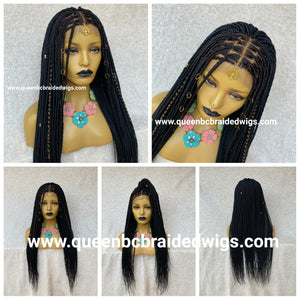 13x4 lace front knotless braids ready to ship wig