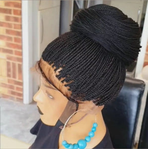 Full lace micro boxbraids wig