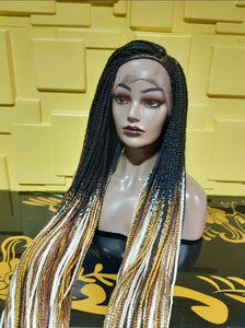 lace frontal boxbraids Wig