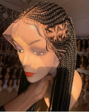 Load image into Gallery viewer, Side design Cornrow Wig