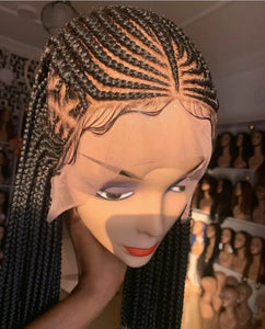 Side design Cornrow Wig