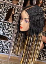 Load image into Gallery viewer, Center part Cornrow Wig