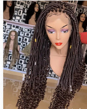 Load image into Gallery viewer, Full lace Goddess faux locs wig