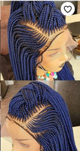 Load image into Gallery viewer, full lace ponytail style 2 Cornrow Wig