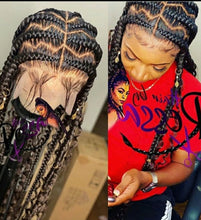 Load image into Gallery viewer, Zizag pop smoke braids full lace wig