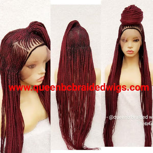 full lace ponytail updo Cornrow Wig