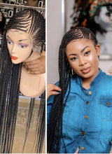 Load image into Gallery viewer, Full lace lemonade braids wig