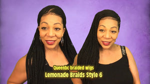 Lemonade braids style 6 Cornrow Wig