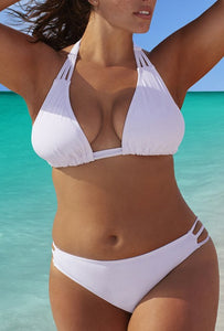 34f8534cdc612 BEACH BABE WHITE TRIANGLE TRIPLE STRING BIKINI – Swimeetu