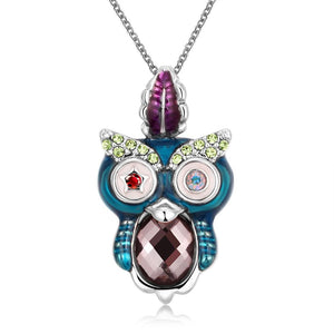 Swarovski Elements Owl Pendant Necklace