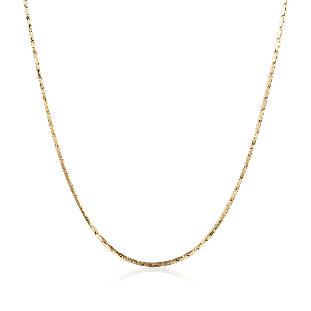 18K Rose Gold Plated Singapore Chain 18
