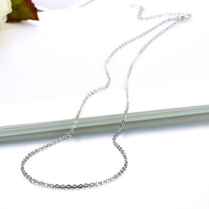 18K White Gold Plated Singapore Chain 18""