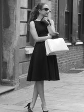 Load image into Gallery viewer, Classic Audrey - classic black dress