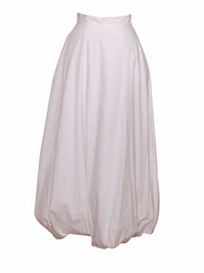 Gigi - cotton long skirt with bubble hem