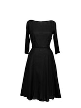 Load image into Gallery viewer, Vintage Audrey - classic black dress
