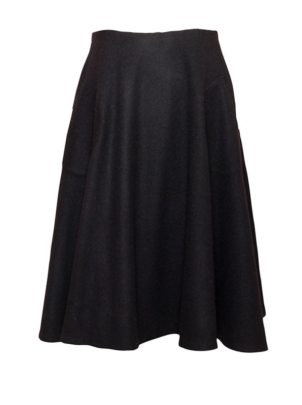 Alma - A-line wool flared skirt
