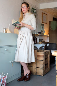 Kirsty -Linen shirt dress