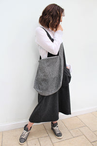 Cambridge - wool patchwork crossbody bag