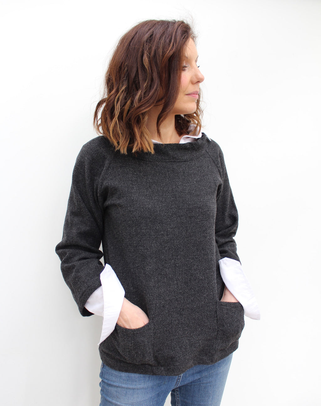 Fisher - wool smock top