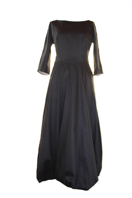 Jolie - cotton long dress with bubble hem